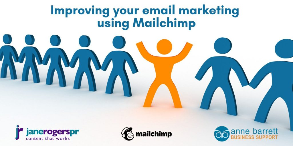 Mailchimp online workshops with Jane Rogers PR and Anne Barrett Business Support