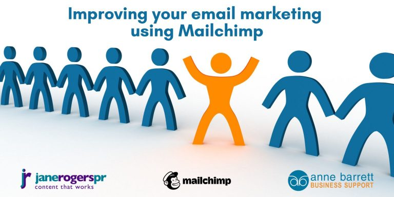 Mailchimp online content workshops with Jane Rogers PR and Anne Barrett Business Support